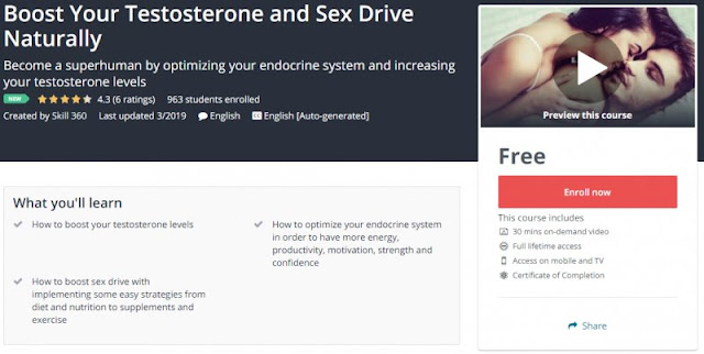 [100% Free] Boost Your Testosterone and Sex Drive Naturally