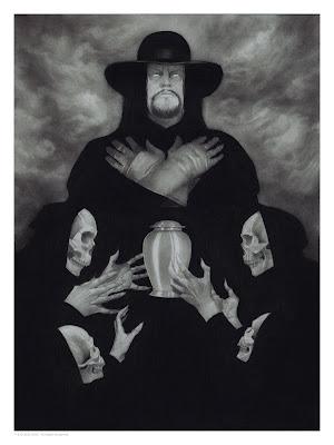 The Undertaker WWE Print by Randy Ortiz x Mondo