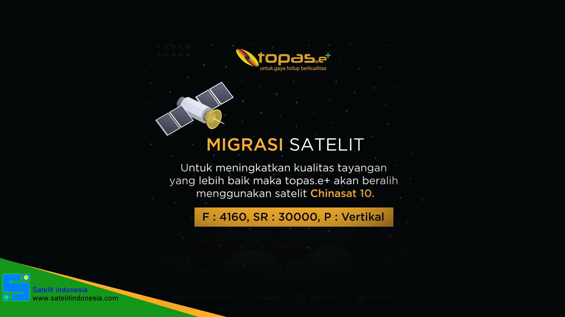 Topas TV Pindah Ke Chinasat 10