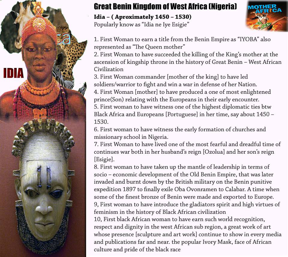 THE GREAT IDIA, QUEEN MOTHER AND WARRIOR OF THE BENIN KINGDOM | The