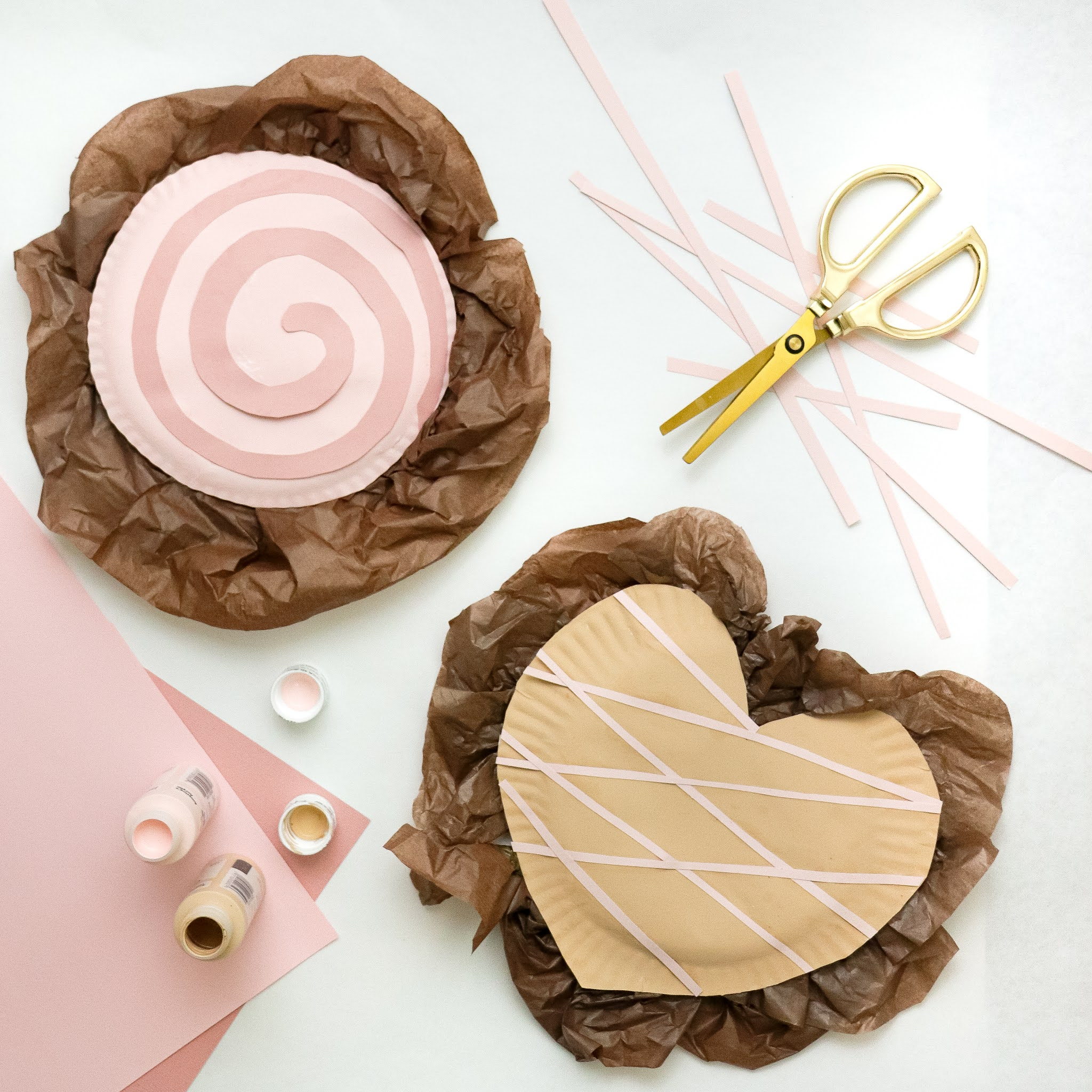paper plate craft valentines day