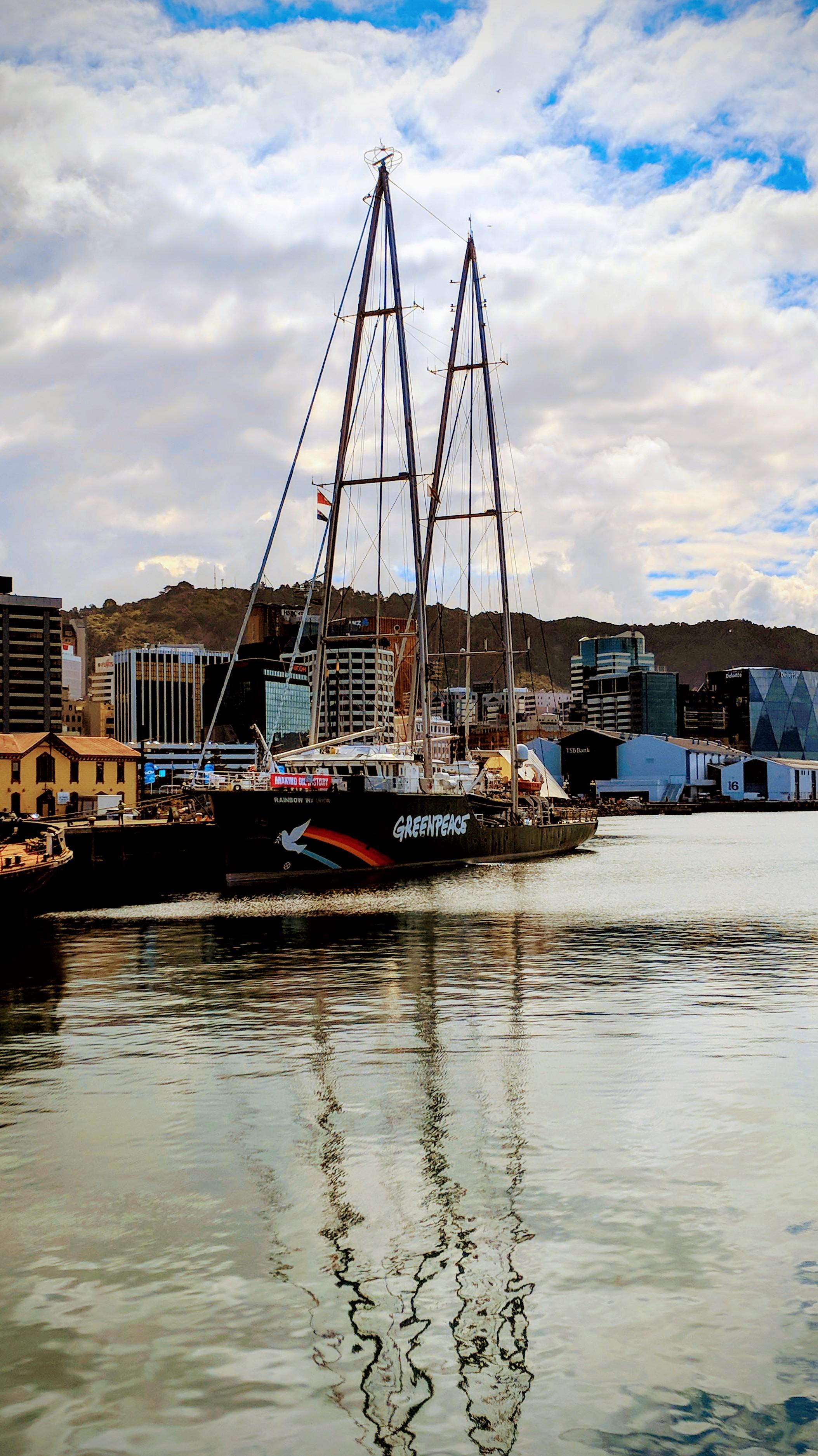 Rainbow Warrior berthed at Wellington (AoNZ)