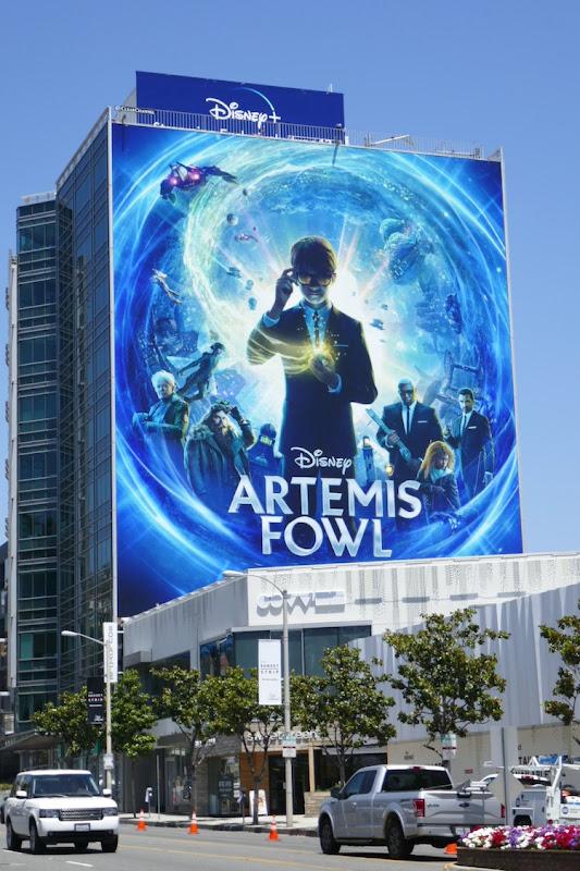 Giant Artemis Fowl movie billboard
