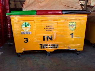 jual tempat sampah fiber 3 in 1 ukuran 60 liter