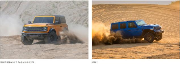 Ford Broncho dengan Jeep Rubicorn