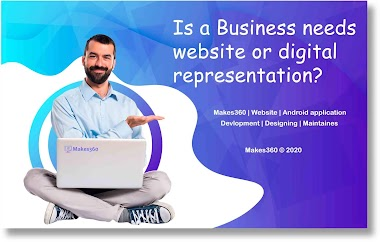 Is small business needs website or digital representation in India?
