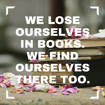 We lose ourselves in books. We find ourselves there too. #books #readeveryday