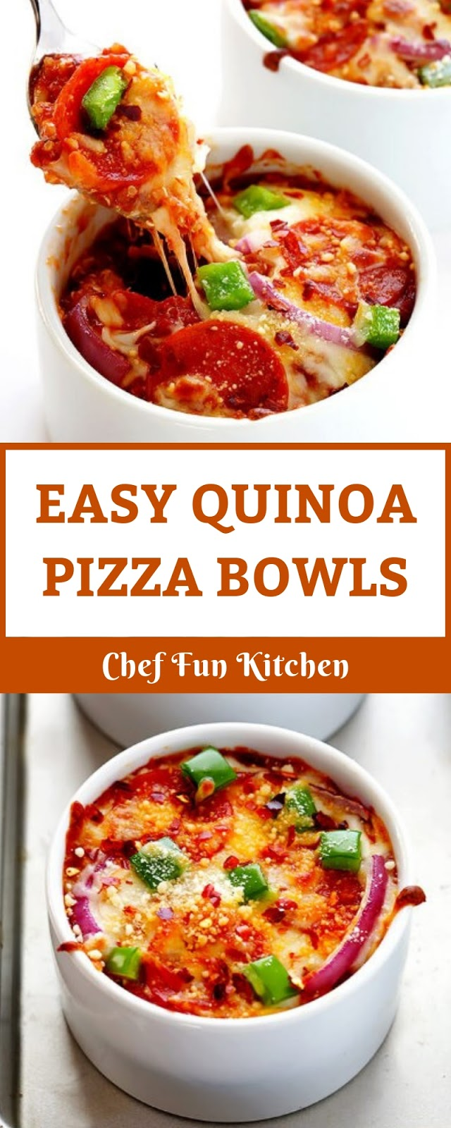 EASY QUINOA PIZZA BOWLS