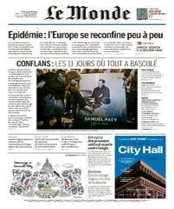 lemonde, le monde magazine 22 October 2020, le monde magazine, le monde news, free pdf magazine download.