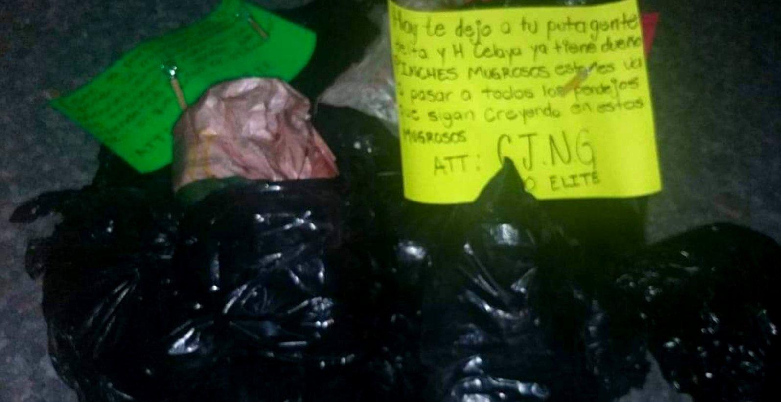 Imagenes: CJNG grupo Élite levanta en Celaya a miembros de El Marro y los descuartiza