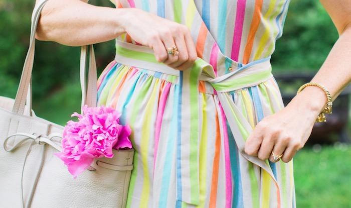 Tommy Hilfiger Cotton Stripe Wrap Dress