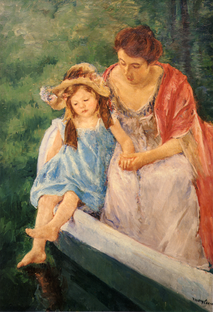 ART: MOTHER AND CHILD IN A BOAT, BY MARY CASSATT