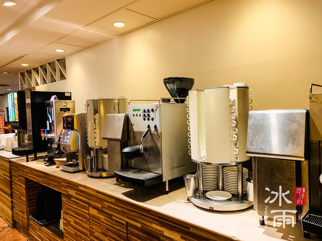 陽明山天籟溫泉會館|早餐菜色|咖啡區