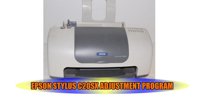 Epson Stylus C20SX Printer Adjustment Program