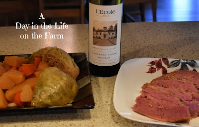 Cab Franc/Merlot and Corned Beef and Cabbage