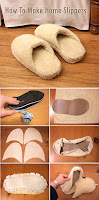 How to make spa slippers out of a towel and flip-flops