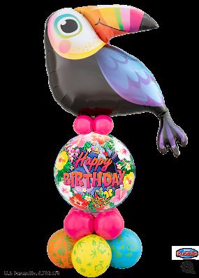 Tropical Toucan Birthday Luxury Design - www.Qualatex.com