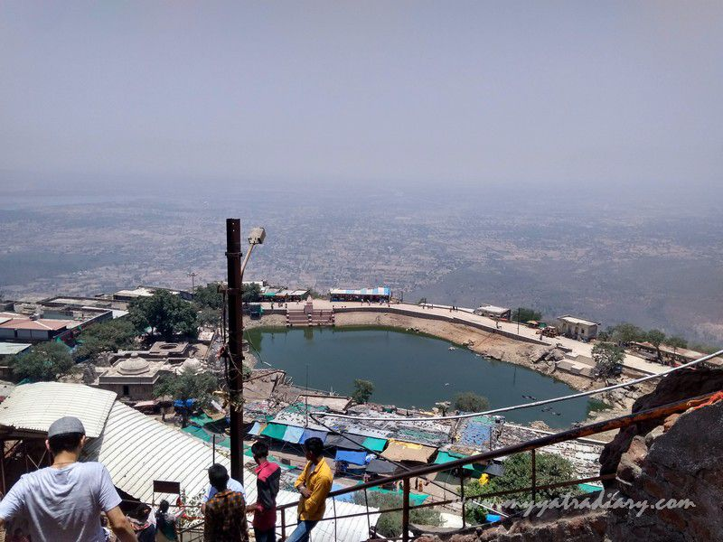 View from the Mahakalika Temple, Pavagad, Champaner Gujarat