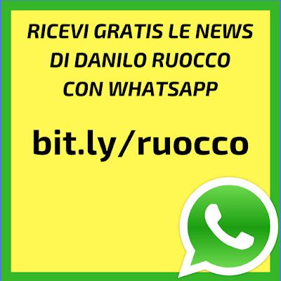 Ricevi su WhatsApp le news di Danilo Ruocco