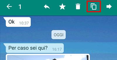 Come copiare un messaggio su whatsapp