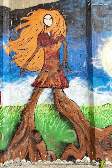 Mural en Frontón A8, Rekalde - Bilbao, por El Guisante Verde Project