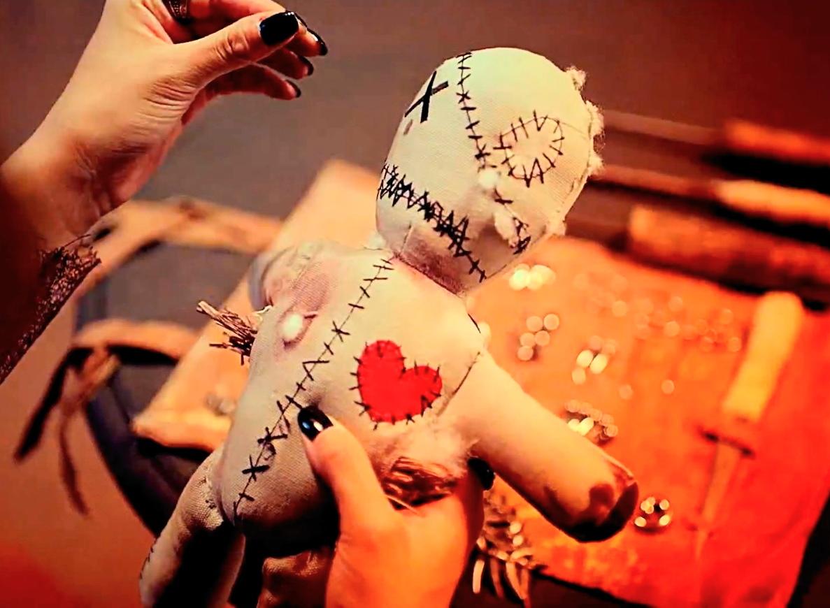Кукла Вуду из ткани