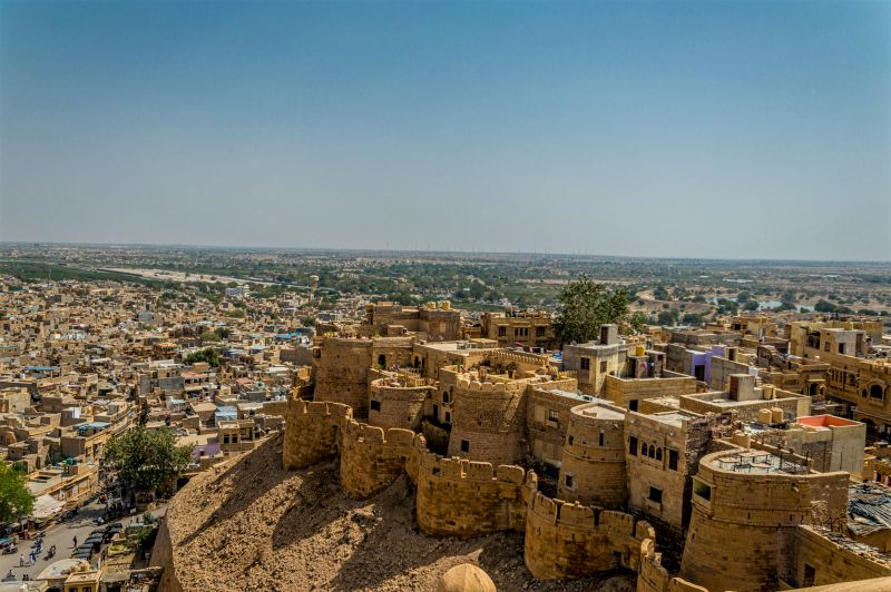 view of Jaisalmer City from the top of Fort