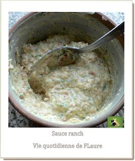Vie quotidienne de FLaure : Sauce ranch pour accompagner une salade de pâtes