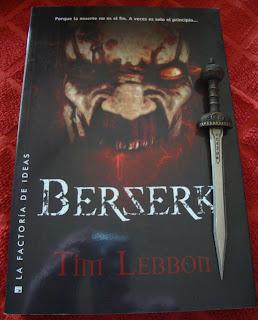Portada del libro Berserk, de Tim Lebbon