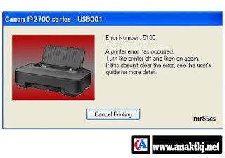 Cara Cepat Mengatasi Printer Canon Ip2770 Error 5100