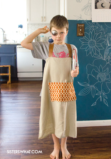 simple apron to sew for kids