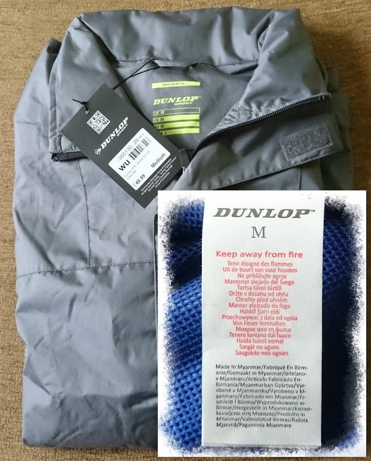 Áo thun khoác chống nước Dunlop F-back