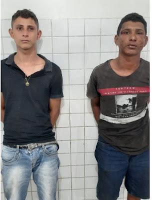 Após realizarem vários assaltos, dupla é presa pela Polícia Militar em Chapadinha