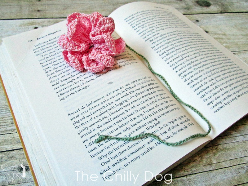 Crochet Pattern Flower Bookmark The Chilly Dog