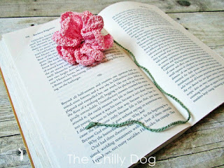 Crochet Pattern: Flower Bookmark