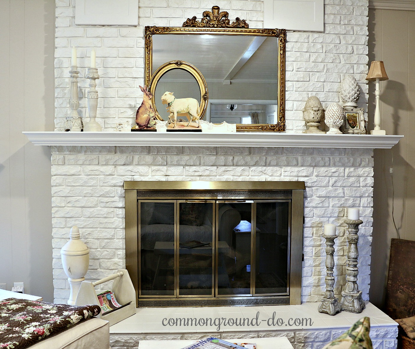 Hearth Room: Common Ground : An Easter Mantel In The Hearth Room