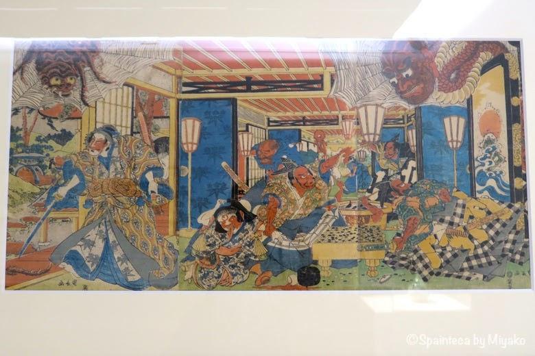 Utagawa Kuninaga マドリードで鑑賞する日本の妖怪土蜘蛛《Yokai: Iconografía de lo fantástico》
