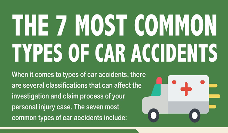 7 Types of Car Accidents FAQ #infographic