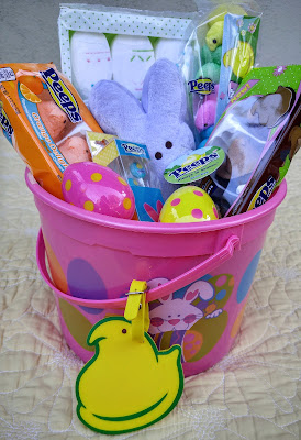 Easter basket toys and candies
