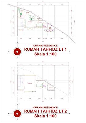 Pembangunan Rumah Tahfidz - Denah Lantai 2
