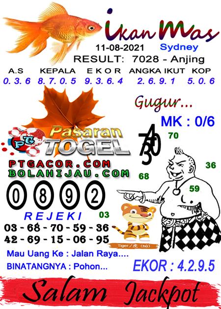 Syair Ikan Mas Sdy Rabu 11-Agt-2021