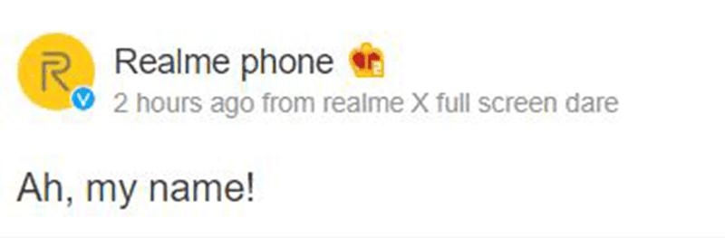 Realme's Weibo teaser