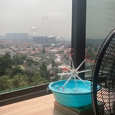 Homemade bubble machine for kids (8)