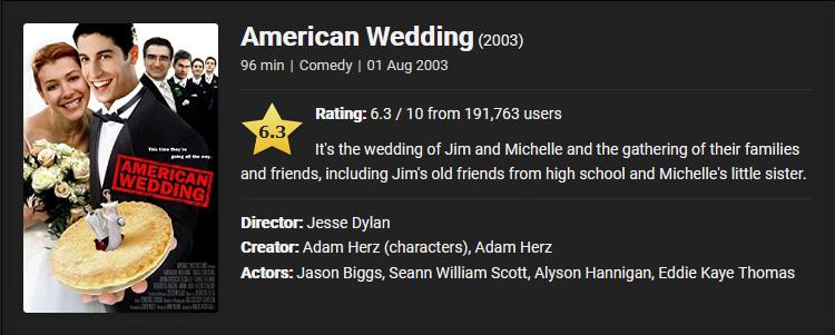 18+ American Wedding (2003) Download Full Movie Dual Audio {Hindi-English} 480p [400MB] || 720p [850MB] || 1080p [1.7GB]