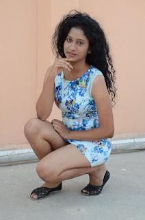 Actress Priyankha Stills in Floral Short Dress at Golmal Gullu Movie Pressmeet 0305.JPG
