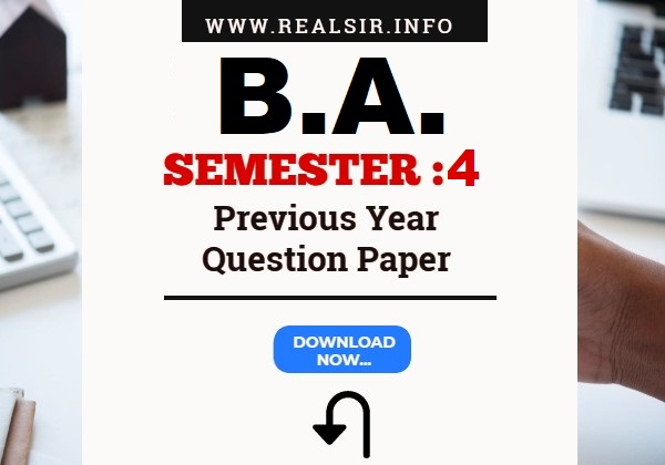 Gujarat University B.A. Semester-4 Previous Year Question Paper Download