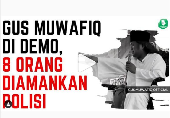 fpi bikin ricuh pengajian gus muwafiq mau dibubarkan teriak ganti presiden duta islam