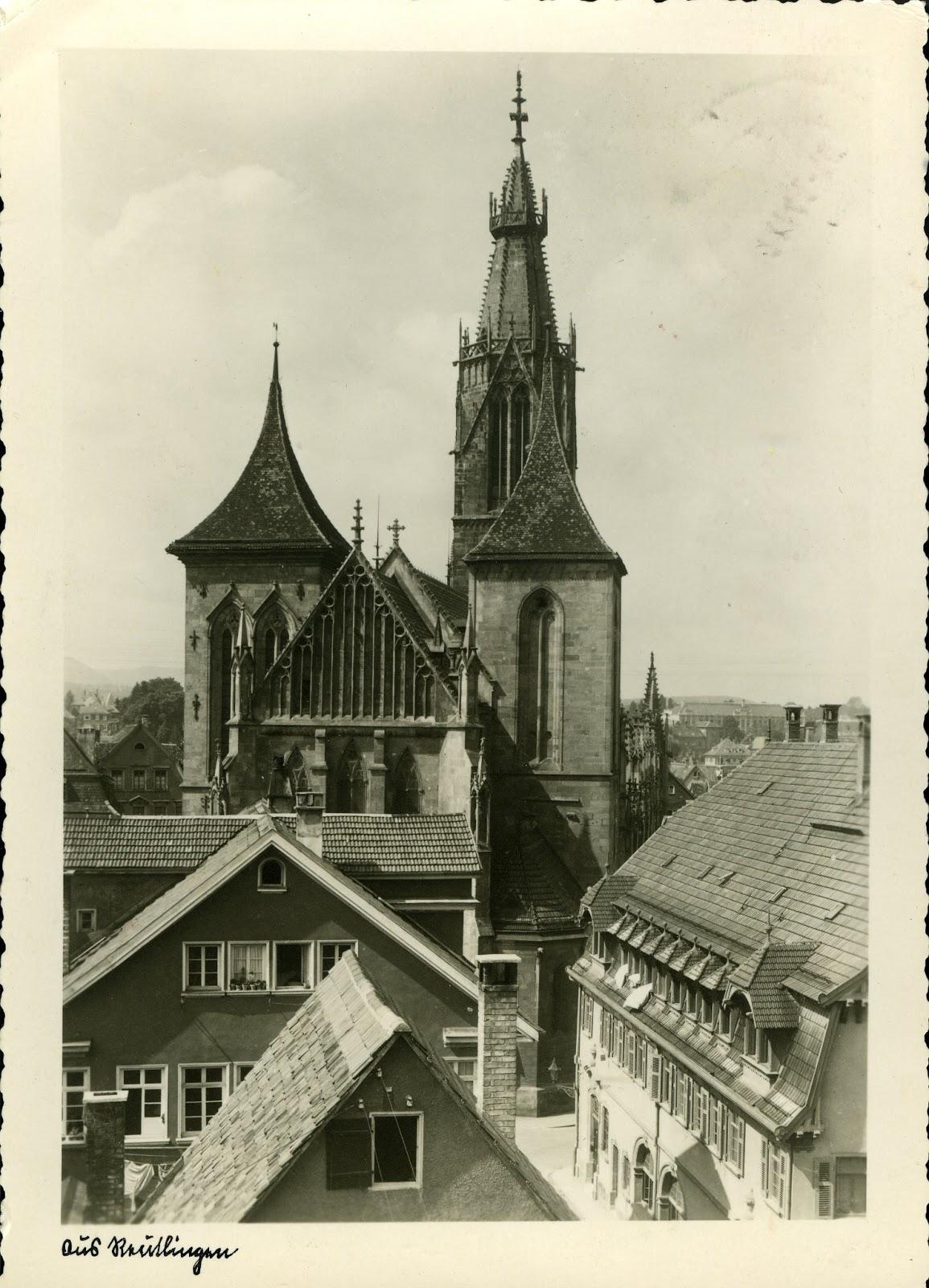 bildertanz marienkirche 1941 gru aus reutlingen. Black Bedroom Furniture Sets. Home Design Ideas