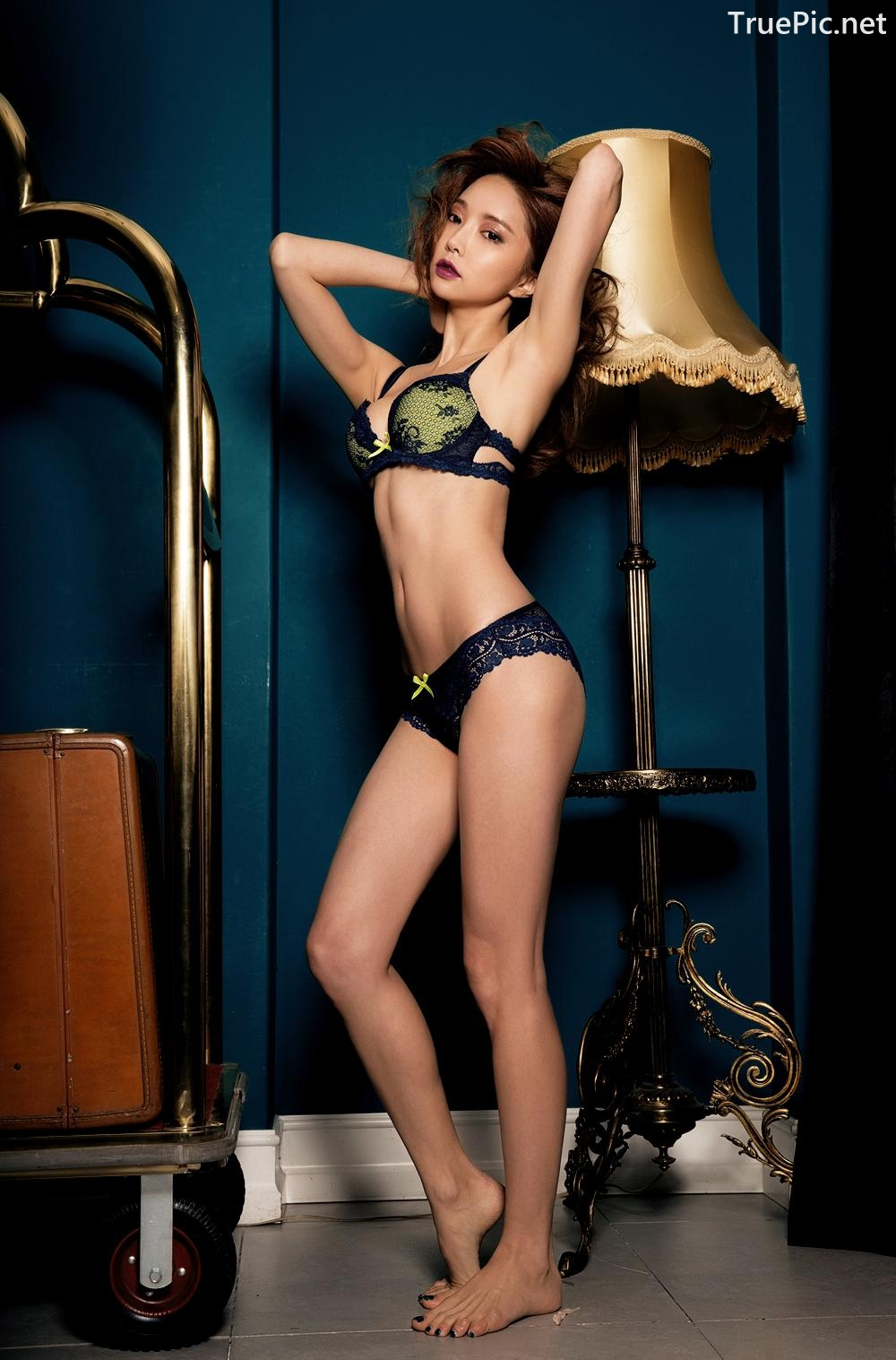 Image Korean Fashion Model - Park Soo Yeon - BVB Black Lace Lingerie - TruePic.net - Picture-8
