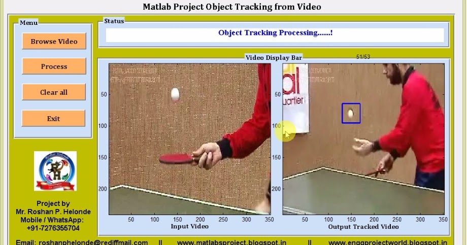 Object Tracking Form Video Matlab Project with Source Code || Final